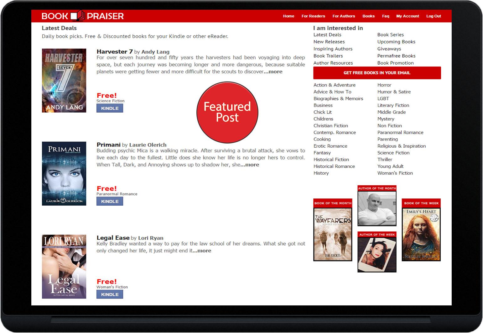 Free Book Promotion Plan - Bookpraiser